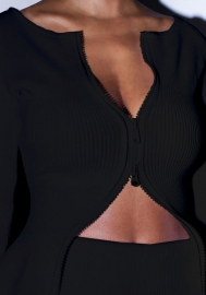 Women Fashion Solid Color Front Zipper Long Sleeve Blazer