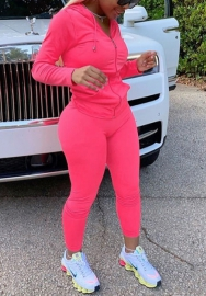 (Pre-Sale)2020 Styles Women Fashion INS Styles Solid Color Tracksuit Suit