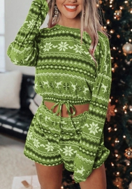 Women Fashion Christmas Styles Two Pieces Suit